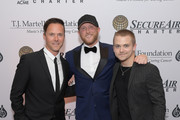 (L-R) Ryan White, Cole Swindell and Hunter Hayes attend The T.J. Martell Foundation Nashville Best Cellars 2019 at the Loews Vanderbilt Hotel on April 22, 2019 in Nashville, Tennessee.