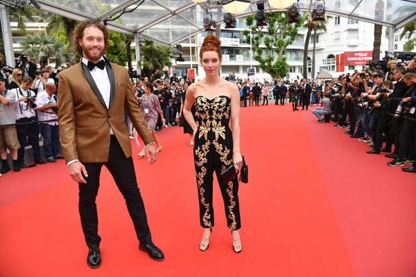 'Wonderstruck' Red Carpet Arrivals - The 70th Annual Cannes Film Festival [film,red carpet,carpet,flooring,fashion,premiere,event,fashion model,dress,haute couture,fashion accessory,red carpet arrivals,kate gorney,tj miller,wonderstruck,us,cannes,l,cannes film festival,screening]
