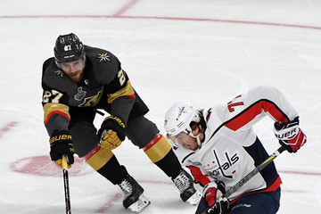 T.J. Oshie Shea Theodore 2018 NHL Stanley Cup Final - Game One