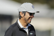 Actor Ray Romano laughs on the 17th hole during the 3M Celebrity Challenge prior to the AT&T Pebble Beach Pro-Am at Pebble Beach Golf Links on February 05, 2020 in Pebble Beach, California.