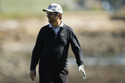 Actor Ray Romano looks on from the 18th hole during the 3M Celebrity Challenge prior to the AT&T Pebble Beach Pro-Am at Pebble Beach Golf Links on February 05, 2020 in Pebble Beach, California.