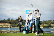 Jordan Spieth of the United States plays his shot from the seventh tee during the third round of the AT&T Pebble Beach Pro-Am at Pebble Beach Golf Links on February 09, 2019 in Pebble Beach, California.