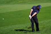 Phil Mickelson of the United States plays a shot during the third round of the AT&T Pebble Beach Pro-Am at Pebble Beach Golf Links on February 09, 2019 in Pebble Beach, California.