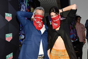 VP Marketing North America, Andrea Soriani and Paulina Vega attend the TAG Heuer celebration of Art Basel Miami 2018 with the launch of Alec Monopoly's special edition timepieces on December 6, 2018 in Miami, Florida.
