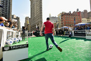 MLS soccer player Dax McCarty attends as TAG Heuer presents the Major League Soccer Rivalry Week #DontCrackUnderPressure Free Kick Challenge on May 19, 2016 in New York City.