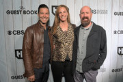 """(L-R) Executive Vice President for Original Programming at TBS Brett Weitz, Alix Jaffe and Greg Garcia attend TBS """"The Guest Book"""" Season 2 premiere at EPLP Restaurant on October 16, 2018 in West Hollywood, California."""