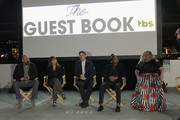 """(L-R) Greg Garcia, Kimiko Glenn, Dan Beirne, Eddie Steeples and Carly Jibson attend TBS """"The Guest Book"""" Season 2 premiere at EPLP Restaurant on October 16, 2018 in West Hollywood, California."""