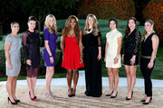 Sara Errani of Italy, Agnieszka Radwanska of Poland, Petra Kvitova of Czech Republic, Serena Williams of the Unted States, Victoria Azarenka of Belarus, Na Li of China, Jelana Jankovic of Serbia and Angelique Kerber of Germany pose for a group picture before the draw ceremony for the WTA Championships at the Renaissance Polat Hotel on October 20, 2013 in Istanbul, Turkey.