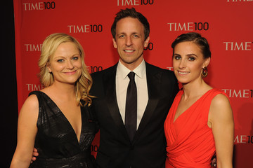 Amy Poehler Seth Meyers TIME 100 Gala, TIME'S 100 Most Influential People In The World - Cocktails