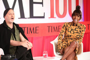 NEW YORK, NEW YORK - APRIL 23 (L-R) Ryan Murphy and Janet Mock participate in a panel discussion during the TIME 100 Summit 2019 on April 23, 2019 in New York City.