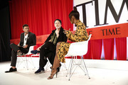 NEW YORK, NEW YORK - APRIL 23 (L-R) Sam Lansky, Ryan Murphy, and Janet Mock participate in a panel discussion during the TIME 100 Summit 2019 on April 23, 2019 in New York City.