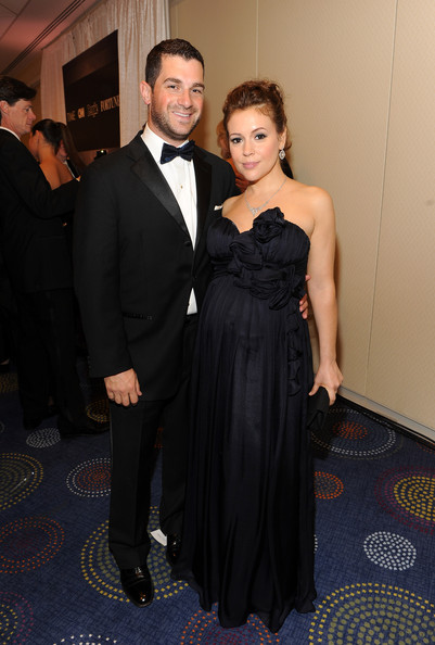 David Bugliari (L)and Alyssa Milano attend the TIME/CNN/People/Fortune White House Correspondents' dinner cocktail party at the Washington Hilton on April 30, 2011 in Washington, DC.
