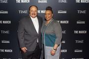 Son of Dr. Martin Luther King Jr., Martin Luther King III, and daughter of Martin Luther King Jr., Bernice King, attend the TIME Launch Event for The March VR Exhibit at the DuSable Museum on February 26, 2020 in Chicago, Illinois.