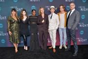 """(L-R) Patty Jenkins, India Eisley, Golden Brooks, Connie Nielsen, Jefferson Mays, Chris Pine and Sam Sheridan attend TNT's """"I Am The Night"""" FYC Event on May 9, 2019 in North Hollywood, California."""