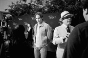 """Image has been shot in black and white. Color version is not available.) Chris Pine (L) and Jefferson Mays attend TNT's """"I Am The Night"""" FYC Event on May 9, 2019 in North Hollywood, California."""