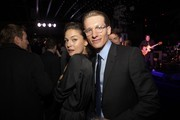 Actress Alexa Davalos and actor James Landry Hebert attned TNT's 'Mob City' Screening after party at Emerson Theatre on November 21, 2013 in Hollywood, California.