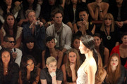 Actress Joy Bryant, Angela Simmons, Kelly Osbourne, designer Nicky Hilton and actress Holland Roden attend the Charlotte Ronson Spring 2012 fashion show during Mercedes-Benz Fashion Week at The Stage at Lincoln Center on September 10, 2011 in New York City.