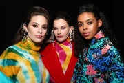 Model Ashley Graham poses with models backstage for TRESemme at Prabal Gurung during NYFW on February 10, 2019 in New York City.
