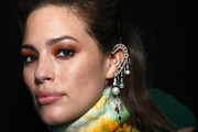 Model Ashley Graham poses backstage for TRESemme at Prabal Gurung during NYFW on February 10, 2019 in New York City.