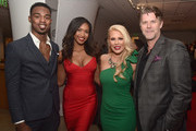 "(L-R) Chris ?Swaggy C? Williams, Bayleigh Dayton, Gretchen Rossi and Slade Smiley attend WE tv celebrates the return of ""Love After Lockup"" with panel, ""Real Love: Relationship Reality TV's Past, Present & Future,"" at The Paley Center for Media on December 11, 2018 in Beverly Hills, California."