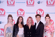 Beccy Henderson, Jamie-Lee O'Donnell, Saoirse-Monica Jackson, Dylan Llewellyn and Kathy Kiera Clarke attend The TV Choice Awards 2019 at Hilton Park Lane on September 09, 2019 in London, England.