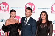 Natalya Wright, Mark Wright and Jessica Wright attend The TV Choice Awards 2019 at Hilton Park Lane on September 09, 2019 in London, England.