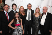 (2nd L-R): Dante Lorenzo, Gabriella Rose, Gianna Ranaudo, Lifetime Achievement Award recipient actor Chazz Palminteri, Table 4 Writers Foundation Chair Jenine Lepera Izzi and Table 4 Writers Vice President David Black and attend the Table 4 Writers Foundation Second Annual Awards Gala at New York Athletic Club on March 27, 2014 in New York City.
