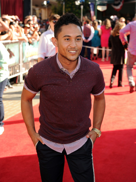 "Tahj Mowry Actor Tahj Mowry arrives at the premiere of Walt Disney Pictures' ""The Lone Ranger"" at Disney California Adventure Park on June 22, 2013 in Anaheim, California."