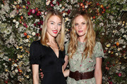 Martha Hunt (L) and Anne Vyalitsyna attend Talita von Furstenberg Celebrates Her Second Collection on October 17, 2019 at La Mercerie in New York City.