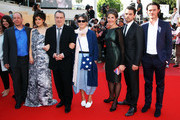 """Moira Buffini, Bill Camp, Guest, Director Stephen Frears, Posy Simmonds, Tamsin Greig, Dominic Cooper and Luke Evans attend the """"Tamara Drewe"""" Premiere at Palais des Festivals during the 63rd Annual Cannes Film Festival on May 18, 2010 in Cannes, France."""
