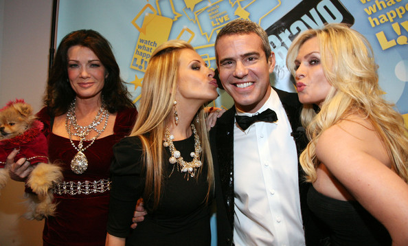 "Tamra Barney (L-R) Lisa Vanderpump, Dina Manzo, Andy Cohen and Tamra Barney attends>> Bravo's ""Watch What Happens Live: Andy's New Year's Party"" at the Bravo Club House at the Embassy Row Production Offices on December 31, 2010 in New York City."