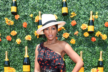 Tamron Hall The Eighth-Annual Veuve Clicquot Polo Classic - Red Carpet Arrivals