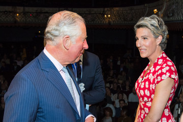 Tamsin Greig The Prince Of Wales Visits The Old Vic Theatre