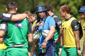 Tana Umaga Auckland Blues Pre-Season Training Camp