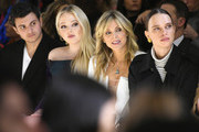 (L-R) Michael Boulos, Tiffany Trump, Marla Maples and Masha Rudenko attend the Taoray Wang front row during New York Fashion Week: The Shows at Gallery II at Spring Studios on February 9, 2019 in New York City.