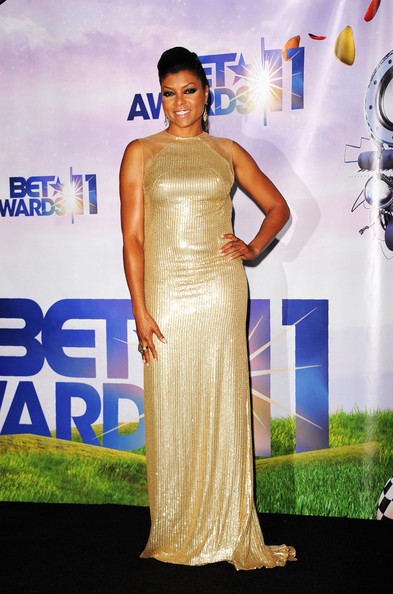 Taraji P. Henson Best Actress of the Year award recipient Taraji P. Henson poses in the press room at the BET Awards '11 held at the Shrine Auditorium on June 26, 2011 in Los Angeles, California.