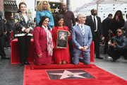 Mitch O'Farrell, Rana Ghabdan, Mary J. Blige, Taraji P. Henson and John Singleton attend a ceremony honoring Taraji P. Henson with a star on The Hollywood Walk of Fame on January 28, 2019 in Hollywood, California.
