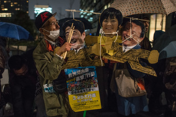 Taro Aso Rally Continues Against Japanese PM Abe Over Discounted State-Land Sale Scandal