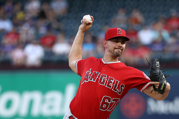 Taylor Cole Los Angeles Angels of Anaheim  v Texas Rangers