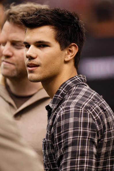 Taylor Lautner Actor Taylor Lautner attends the game between the New Orleans Saints and the St. Louis Rams at the Louisiana Superdome on December 12, 2010 in New Orleans, Louisiana.