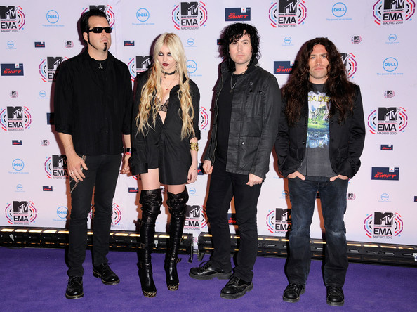 Taylor Momsen Taylor Momsen (2L) and The Pretty Reckless attend the MTV Europe Awards 2010 at the La Caja Magica on November 7, 2010 in Madrid, Spain.