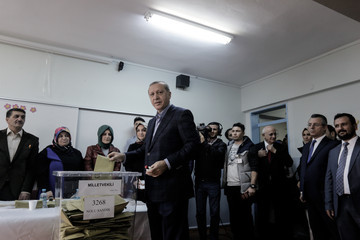 Tayyip Erdogan Turkey Holds a Snap General Election Amid Tight Security