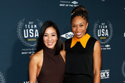 (L-R) Michelle Kwan and Allyson Felix attends the 2017 Team USA Awards on November 29, 2017 in Westwood, California.