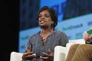 Commissioner at FCC Mignon Clyburn speaks onstage during TechCrunch Disrupt NY 2017 - Day 2 at Pier 36 on May 16, 2017 in New York City.