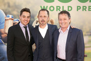(L-R) A guest, actor Giovanni Ribisi, and producer Jason Clark attend the New York Premiere of