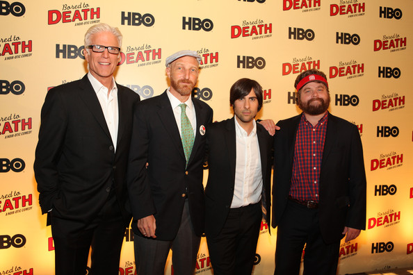 Ted Danson Jason Schwartzman Zach Galifianakis Jonathan Ames Ted Danson And Jason Schwartzman Photos Hbo S Bored To Death Premiere Zimbio