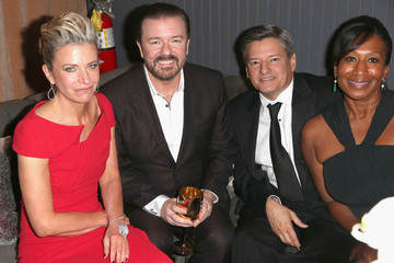 Ted Sarandos Nicole Avant The Weinstein Company and Netflix Golden Globe Party- Inside