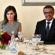 Tedros Adhanom Queen Letizia Of Spain Attends World Health Assembly