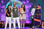 (L-R) Actors Michelle Rodriguez, Vin Diesel, Jordana Brewster and Ludacris accept the Choice Movie: Action Award for Furious 7 onstage during the Teen Choice Awards 2015 at the USC Galen Center on August 16, 2015 in Los Angeles, California.