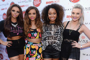 (L-R) Jesy Nelson, Jade Thirlwall, Leigh-Anne Pinnock and Perrie Edwards of Little Mix attend Teen Vogue's Back-to-School Saturday kick-off event at The Grove on August 9, 2013 in Los Angeles, California.